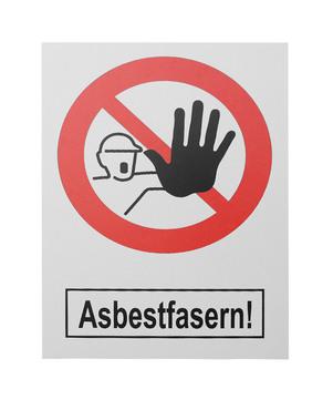DESABAG Warntafel 50x70 cm Asbestarbeiten