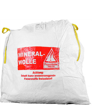DESABAG Volumenbag 140x140x150 cm beschriftet Warndruck Mineralwolle