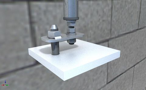 ABS Safety Unterkonstrukion für abgehängte Decken bis 100 mm bauaufsichtliche Zulassung Edelstahl V2A