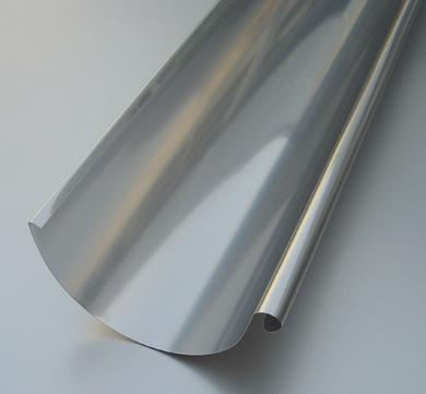 BRANDT 5-teilige Dachrinne rund 0,50 mm 3,0m 1.4301 Blank