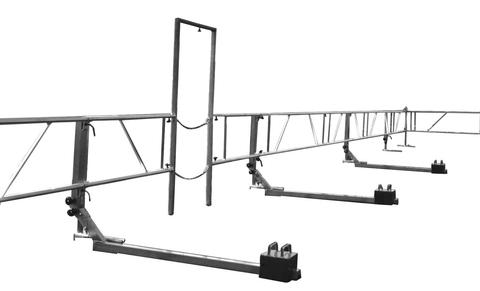 Grün Alufix Schutzsystem 50,0 m Grundausstattung mit 2 Ecke Alu