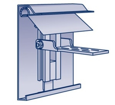 Polybit Baumetall Dachrand Classic 175/1,5 mm -8 m mit Stoßverbinder, Trägerprofil und Halter Alu