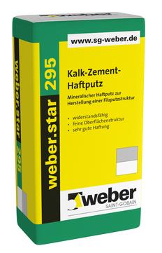 Saint-Gobain Weber weber. Star 295 30,0 kg mineralischer Haftputz Naturgrau