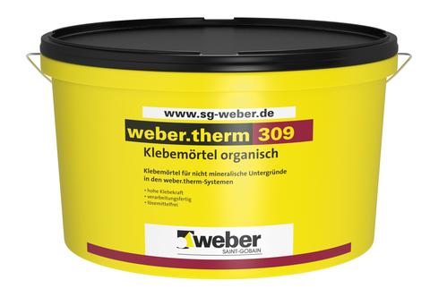 Saint-Gobain Weber weber. 309 25 kg Klebemörtel Naturweiß