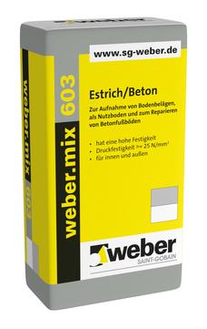 Saint-Gobain Weber weber. mix 603 40 kg Estrich/Beton