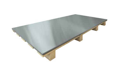 Umicore Blech 0,70 mm 1000x2000 mm 1000 kg Stempel außen Folie 990 mm Titanzink Quartz vorbewittert