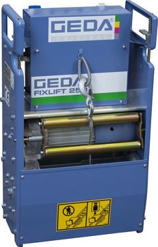 Geda-Dechentreiter Fixlift 250 Grund. 2 Hubgeschwindigkeiten 19/38 m/min.