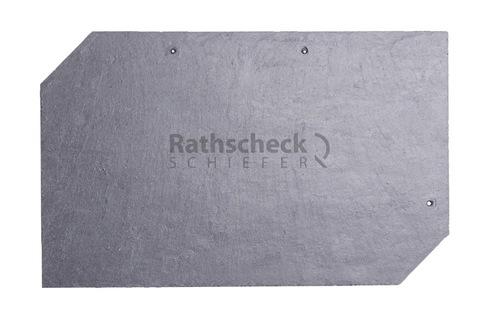 Rathscheck Schiefer Rechteck 50x25 cm rechts InterSin gelocht Grube 120