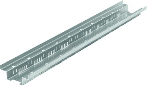 Reichlmeier Drain Dachrinne 150/ L = 1000 mm, komplett ohne Abdeckung Verzinkt