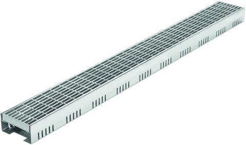 Reichlmeier Drain Entwässerungsrinne Breite 100 mm Länge = 1000 mm Maschenrost verzinkt