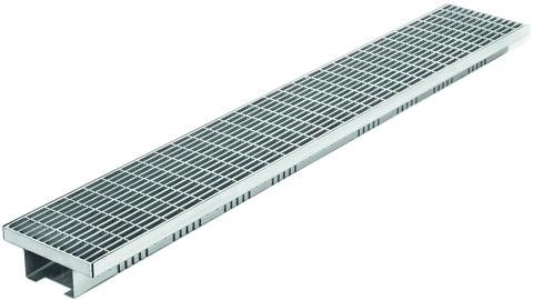 Reichlmeier Drain Entwässerungsrinne Breite 150 mm Länge = 1000 mm Maschenrost verzinkt