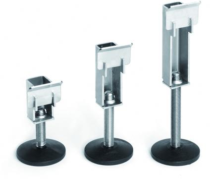 Reichlmeier Drain Höhenverstellset H1 73-103 mm, Breite = 150 mm Edelstahl V2A