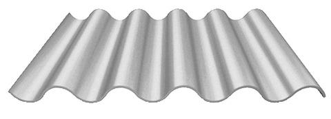 Laukien Cemfort Profil 5 Wellplatte 2500 mm vollkantig Pastellgrau