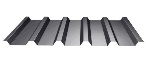 Laukien Trapezprofil Dach 35-207/0,75 mm Stahl 25 µm Polyester, ähnlich RAL 7016 Anthrazitgrau
