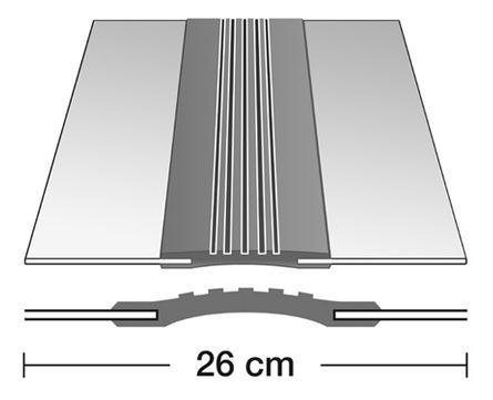 Semmler Dehnfugenband C 260/1,0 3 m doppelseitig vulkanisiert Alu