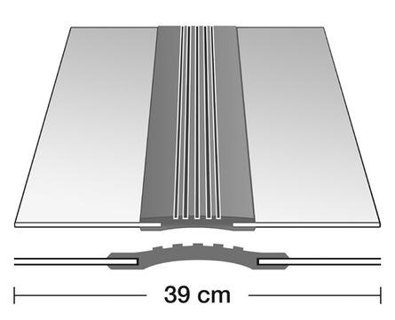 Semmler Dehnfugenband D 390/1,0 6 m doppelseitig vulkanisiert Alu