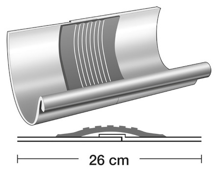 Semmler 8-teilige Rinnendila halbrund 0,60 mm Typ AS einseitig vulkanisiert Kupfer