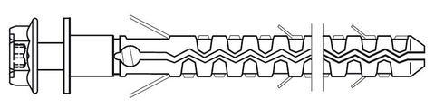 SFS intec Fassadendübel MBRK-X-H18 10x60 mm 100St/Pak Galvanisch verzinkt