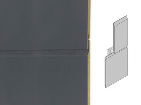 Rockpanel Lines 2 XL 3050x282x8 mm RAL 7016 Anthrazitgrau