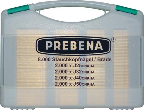 PREBENA J-Box Stauchkopfnägel 8000S J25/J32/J40/J50CNKHA im Koffer