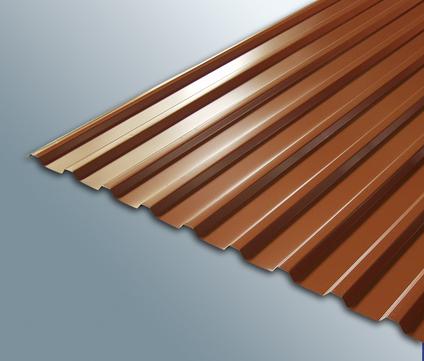 Scobalitwerk Profilplatte Trapez 115/18 mm 5000 mm ziegelrot Länge 5000 mm Breite 1080 mm Stahl