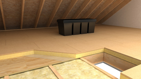 Unilin Dämmplatte WALK-R 178 mm 1200x600 mm Dachboden WLS 023