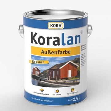 Obermeier Koralan Außenfarbe 2,5 l Schwarz