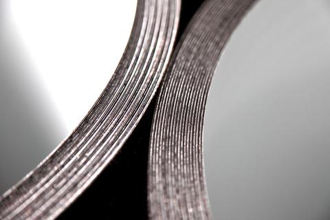 Köster Verbundblech Coil 1x30 mm Unterseite Schutzlackierung Hellgrau
