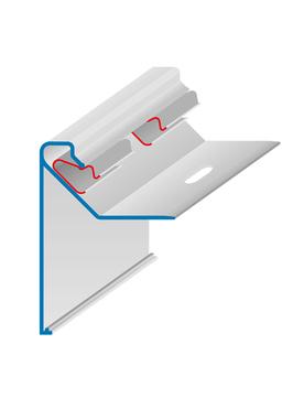 DWS Pohl Dachrand SBK 130 Profil komplett mit 3 Klemmstücken und 1/4 Stoßverbinder Aluminium