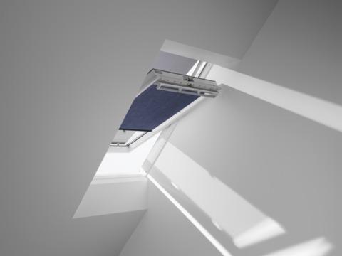 VELUX Rollos,Raff-Rollos mit Wechselstoff ROP PK00 9050 Standard Vorteils-Set Hitzeschutz Blauschwarz