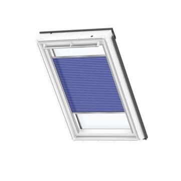 VELUX Plissee FHL PK08 94x140 cm 1268S Premium manuell Dekor Blau