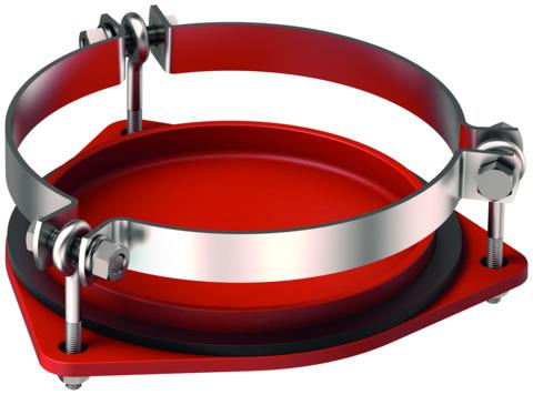 ACO Passavant Enddeckel SM-X DN200x5,0 mm 7100. 20. 01 mit Klemmschelle Gußeisen