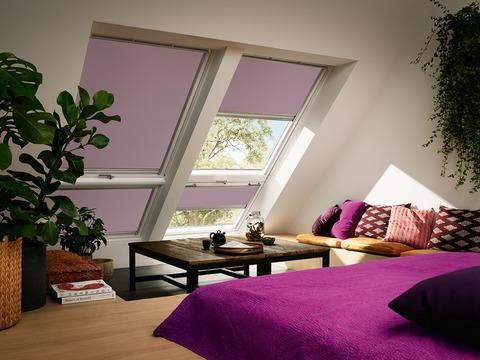 VELUX Verdunklungs-Rollo manuell DKU (für Kunststofffenster 2000-2013) 206 1100 Standard universal Dunkelblau