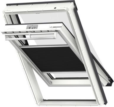 VELUX Plissee FOP MK12 78x180 cm 1047S Premium Vorteils-Set universal schwarz / Schwarz