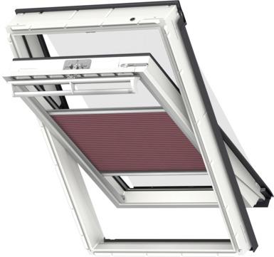 VELUX Plissee FOP MK12 78x180 cm 1051S Premium Vorteils-Set universal Himbeereschwarz