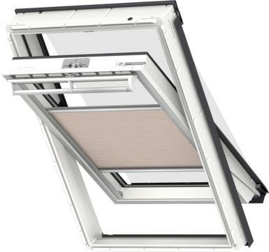 VELUX Plissee FOP MK12 78x180 cm 1155S Premium Vorteils-Set universal Beigeschwarz