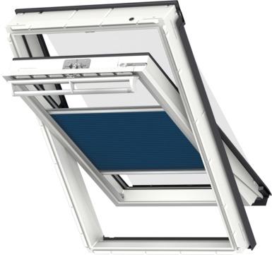 VELUX Plissee FOP MK12 78x180 cm 1156S Premium Vorteils-Set universal Blauschwarz