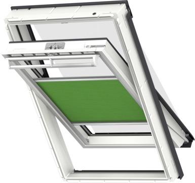 VELUX Plissee FOP MK12 78x180 cm 1157S Premium Vorteils-Set universal Grünschwarz