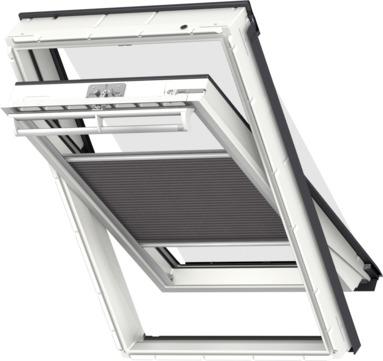 VELUX Plissee FOP MK12 78x180 cm 1158S Premium Vorteils-Set universal Grauschwarz