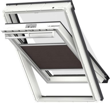 VELUX Plissee FOP MK12 78x180 cm 1159S Premium Vorteils-Set universal Braunschwarz