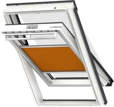VELUX Plissee FOP MK12 78x180 cm 1161S Premium Vorteils-Set universal Orangeschwarz