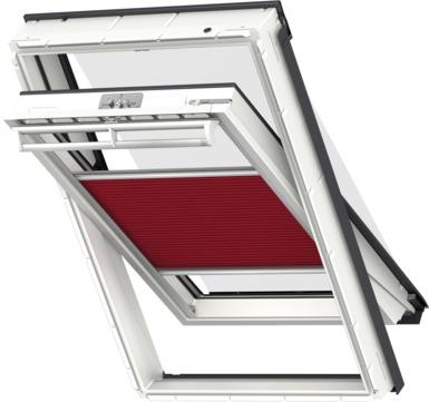 VELUX Plissee FOP MK12 78x180 cm 1162S Premium Vorteils-Set universal Kirschrotschwarz