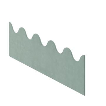 Cembrit Traufenzahnleiste B55 B55 055 200x870 mm Dunkelbraun