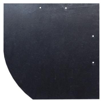 Böger (Theis) Schiefer Bogen 30x30 cm links Assulo gelocht rechte Deckung Schiefergrube Assulo A 1