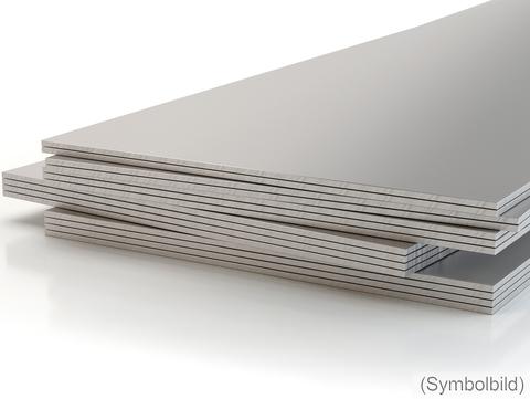 Häuselmann Tafel 0,80mm 1000x2000mm glatt Alu hm-liquid einseitig weiße foliert 4,40kg je Tafel Anthrazit