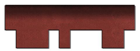 Onduline Bitumenschindel Pro Design Bardoline Pro Mosaikform 100x33,7 cm Rot