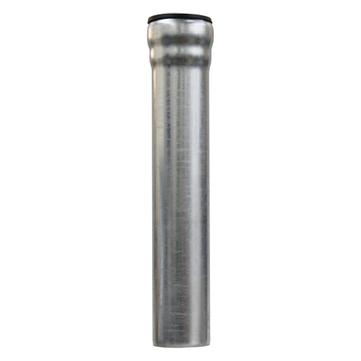 LOROWERK 8-teilige Fallrohr rund DN 70 mm 0,50 m mit 1 Muffe Feuerverzinkt