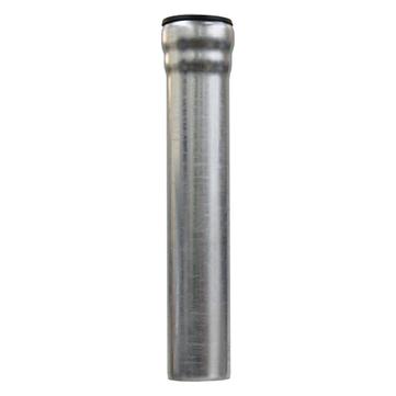 LOROWERK 6-teilige Fallrohr rund 100 mm 0,50 m mit 1 Muffe Feuerverzinkt