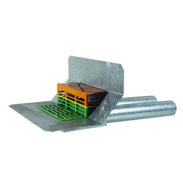LOROWERK Duoflux Direktablauf DN70 mm mit Doppelrohr und Klebeflansch Bitumen