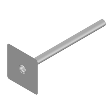LOROWERK Wasserspeier DN 50 mm 800 mm mit Klebeflansch Edelstahl V2A